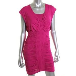 NWT Laundry Shelli Stegal Pink Ruched Dress $114